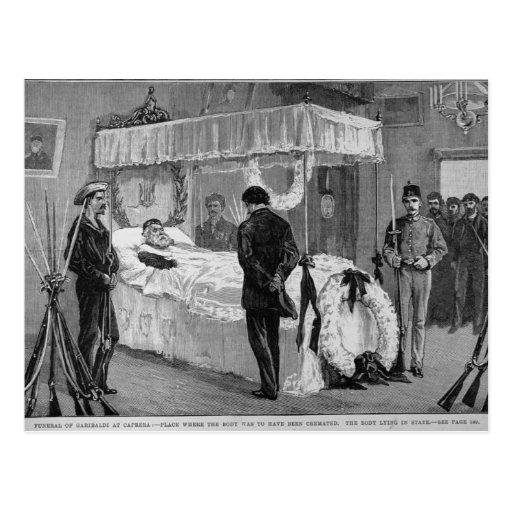 El entierro de Garibaldi en Caprera Postal