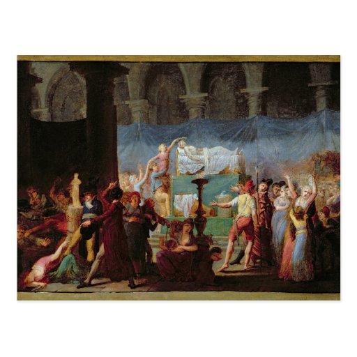 El entierro de Marat en la iglesia antigua Tarjetas Postales