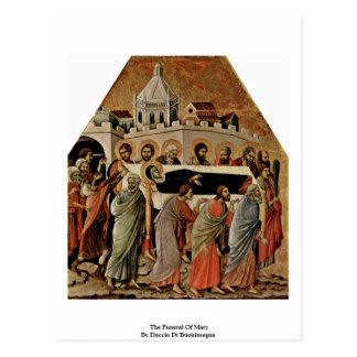 El entierro de Maria de Duccio Di Buoninsegna Tarjetas Postales