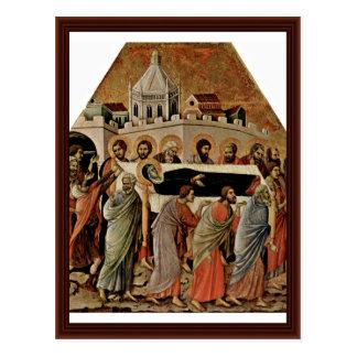 El entierro de Maria de Duccio Di Buoninsegna Postal