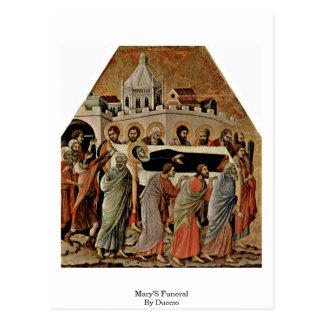 El entierro de Maria por Duccio Postal