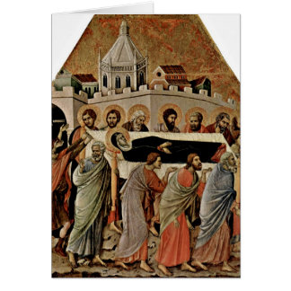 El entierro de Maria por Duccio Tarjeta