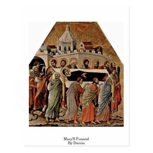 El entierro de Maria por Duccio Postales