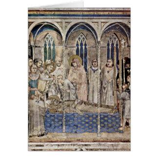 El entierro de San Martín de Simone Martini Felicitación