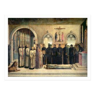 El entierro de St Jerome, c.1470-1472 (el aceite e Tarjeta Postal