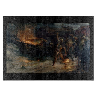 El entierro de una tabla de cortar de Viking