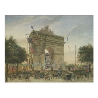 El entierro de Victor Hugo 1885 Postal
