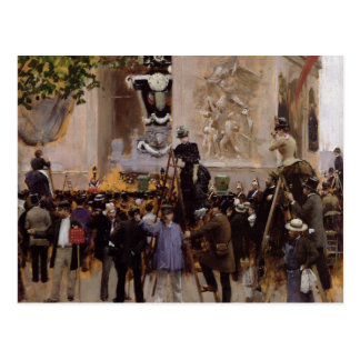El entierro de Victor Hugo Tarjeta Postal
