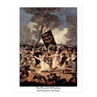 El entierro del Sardina de Francisco De Goya Tarjetas Postales