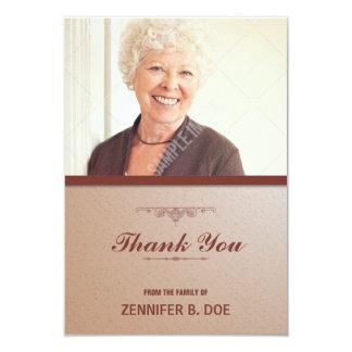 El entierro le agradece tarjeta de la foto invitación 8,9 x 12,7 cm
