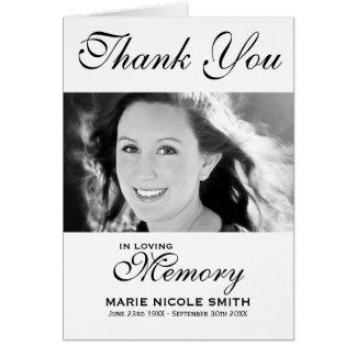 El entierro negro y blanco le agradece personalizó tarjeta pequeña
