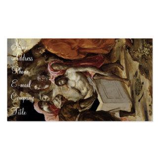 """""""El Entombment de Christ Tarjetas De Visita"""