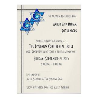 El entrelazar protagoniza (la recepción invita) invitación 11,4 x 15,8 cm