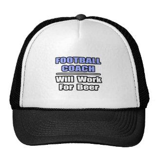 El entrenador de fútbol… funcionará para la cervez gorra