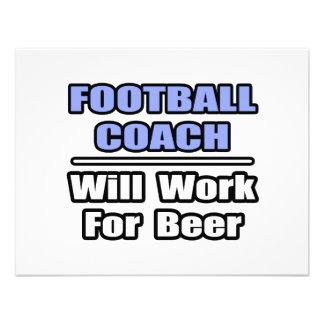 El entrenador de fútbol… funcionará para la cervez comunicados personales