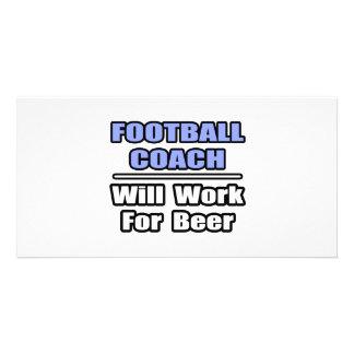 El entrenador de fútbol… funcionará para la cervez tarjetas personales con fotos
