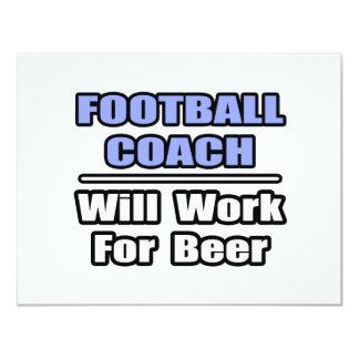 El entrenador de fútbol… funcionará para la invitación 10,8 x 13,9 cm