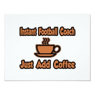 El entrenador de fútbol inmediato… apenas añade el invitación 10,8 x 13,9 cm