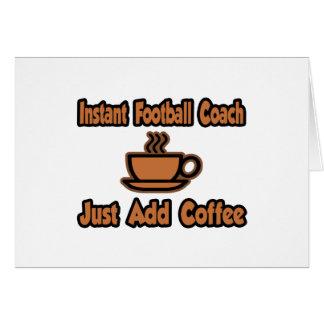 El entrenador de fútbol inmediato… apenas añade el tarjeta de felicitación