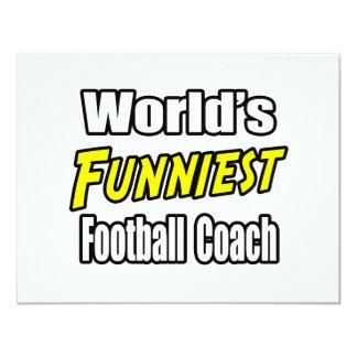 El entrenador de fútbol más divertido del mundo invitación 10,8 x 13,9 cm