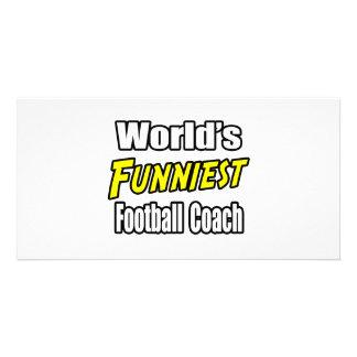 El entrenador de fútbol más divertido del mundo tarjetas con fotos personalizadas