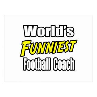 El entrenador de fútbol más divertido del mundo tarjeta postal