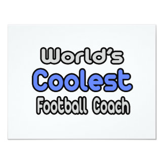 El entrenador de fútbol más fresco del mundo invitación 10,8 x 13,9 cm