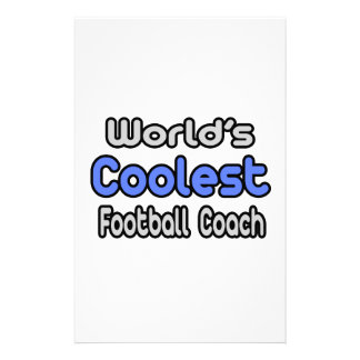 El entrenador de fútbol más fresco del mundo  papeleria de diseño