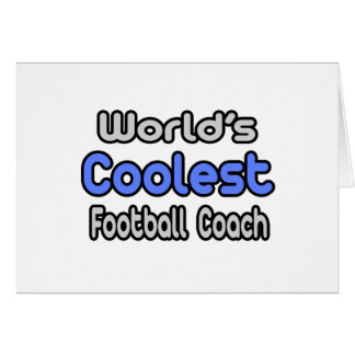 El entrenador de fútbol más fresco del mundo tarjeta de felicitación