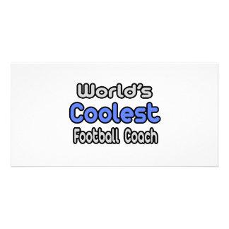 El entrenador de fútbol más fresco del mundo tarjetas fotograficas