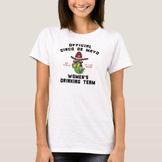 El equipo de consumición de las mujeres de Cinco Camiseta