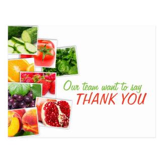 El equipo de la nutrición le agradece postal de la