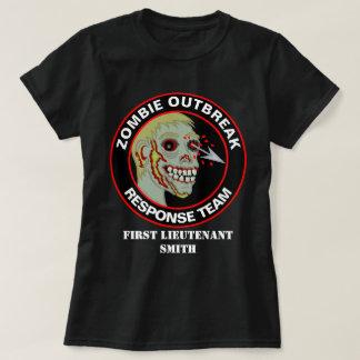 El equipo de la respuesta del brote del zombi camiseta