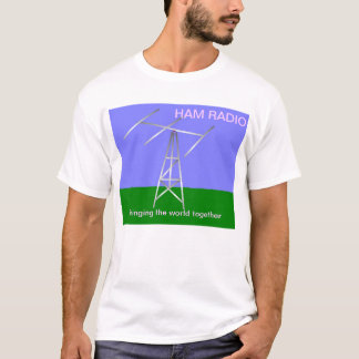 El equipo de radio-aficionado trae la camiseta del