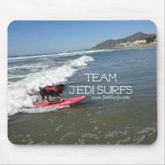 El equipo Jedi practica surf la línea Alfombrillas De Ratón