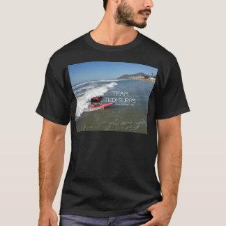 El equipo Jedi practica surf la línea Camiseta