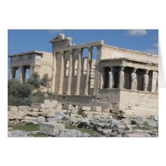 El Erecthion - la mayoría del sitio sagrado en Tarjeta