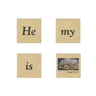 Él es mi escritura de la roca, imán de piedra,