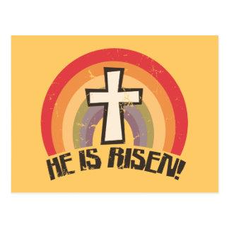 Él es Pascua religiosa subida Tarjeta Postal