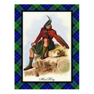 El escocés de MacKay del clan soña la postal