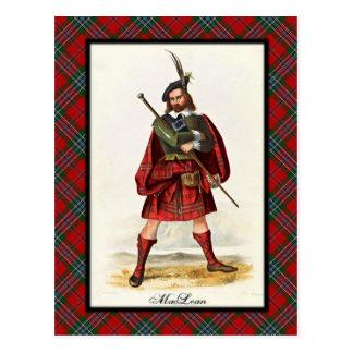 El escocés de MacLean del clan soña la postal