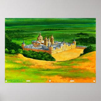EL Escorial - según lo visto de Monte Abantos Póster