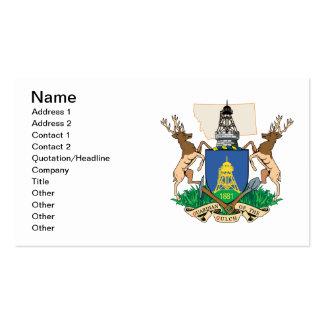 El escudo de armas de la ciudad de Helena Tarjetas Personales
