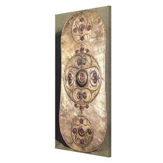 El escudo de Battersea c 350-50 A C Impresión En Lienzo Estirada