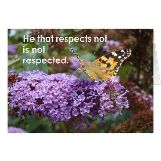 Él ese respeta no… tarjeta