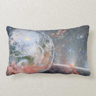 El espacio amortigua la tierra del planeta cojín lumbar