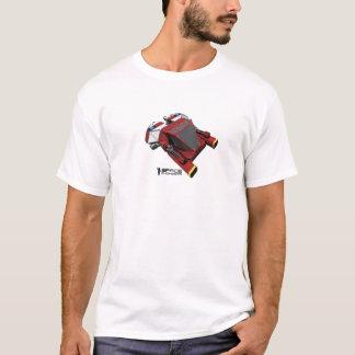 El espacio dirige la camiseta - pequeña nave roja