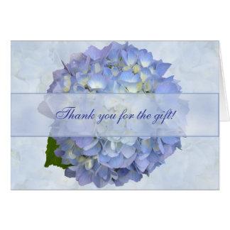 El espacio en blanco azul de la flor del Hydrangea Tarjeta Pequeña