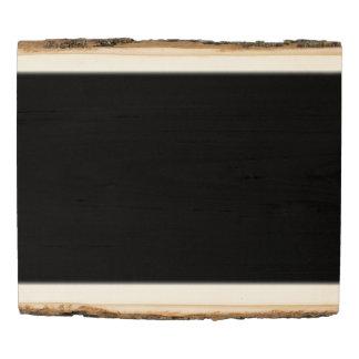 El espacio en blanco de la plantilla añade color panel de madera