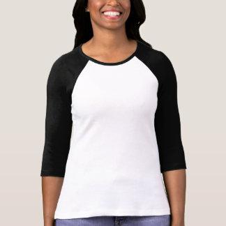 El espacio en blanco DIY de la camiseta del raglán